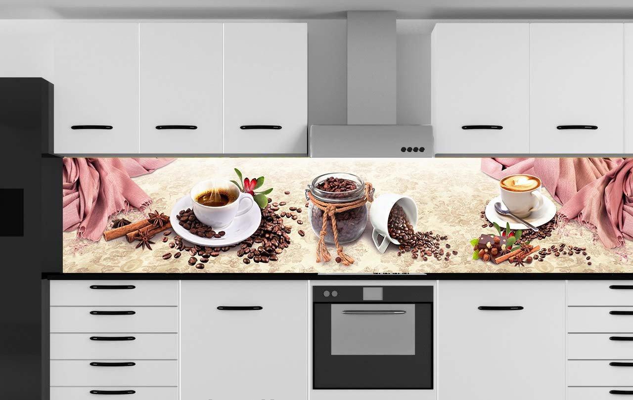 Скинали с рисунком кофе для кухни на заказ