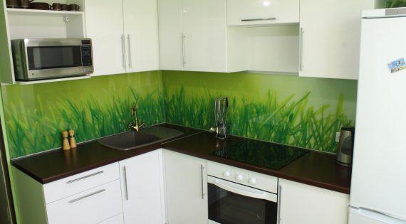 Скинали зеленого цвета для кухни